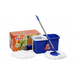 Buy Spin mop with easy wheels and bucket - with 2 refills Online