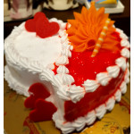 Buy Butter Scotch Heart Cake Online